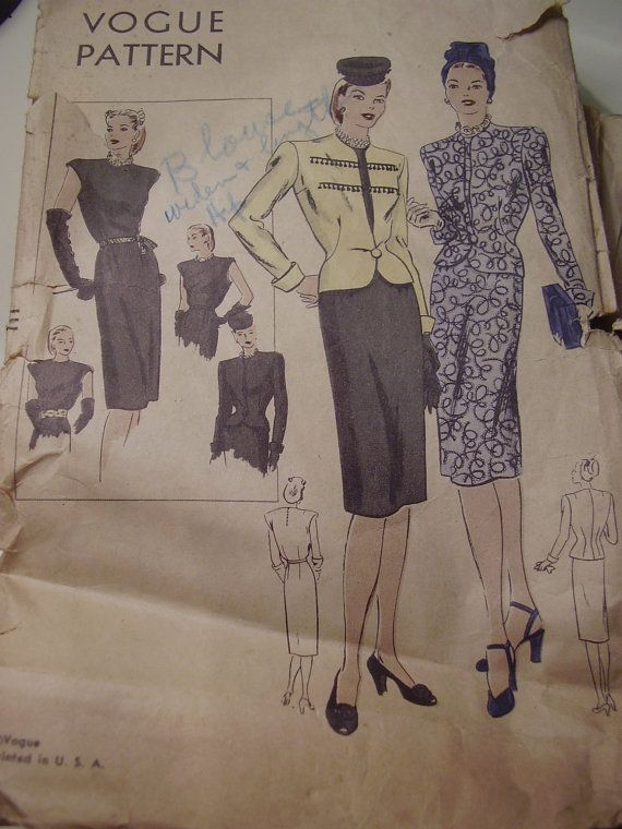 1940s Vogue 5339 Dress and Jacket