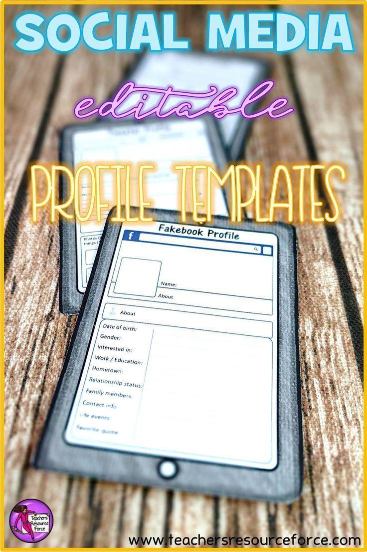 Dating profile templates printable