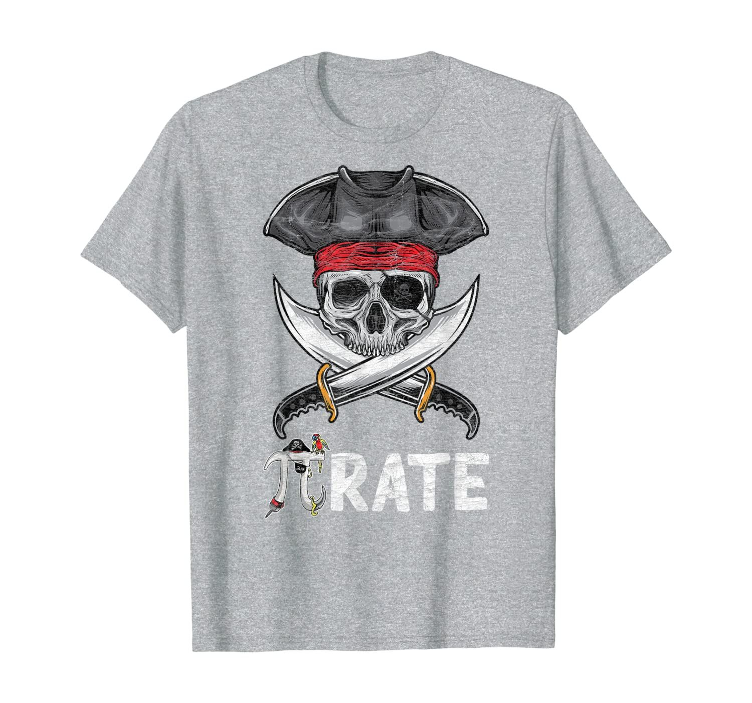 Cool Pi Rate Pirate Pi Math Science Gift For Teacher Geek T-Shirt