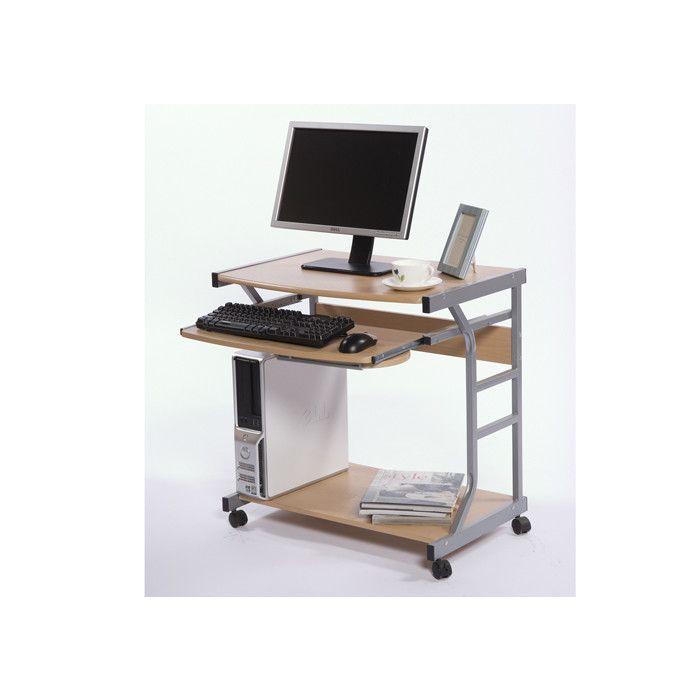 scribed oak effect home. Berkeley Mobile Computer Desk Natural Cart Laptop Workstation Office Print Home Scribed Oak Effect