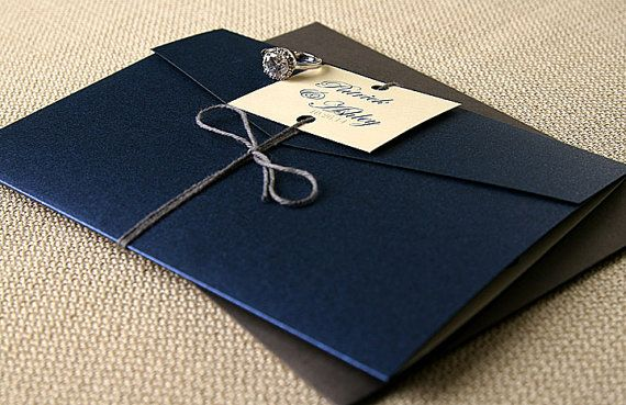 17 Best images about Invitations – Navy Blue and Gold Wedding Invitations