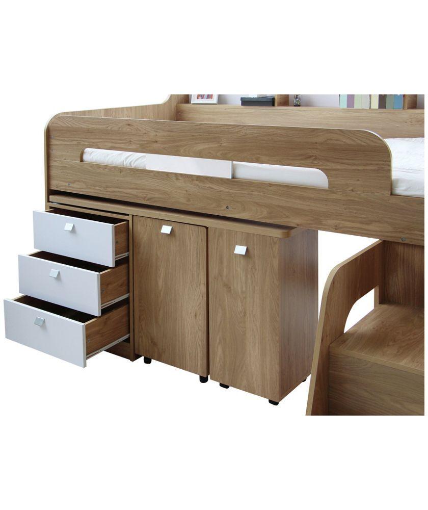 Bed with a desk wardrobe versatile children go bed under table - Buy Ultimate Storage Midsleeper Bed At Argos Co Uk Your Online Shop For