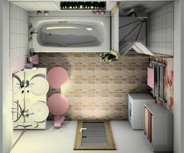 badezimmergestaltung ideen kleine bäder möbel lageplan Ideen für