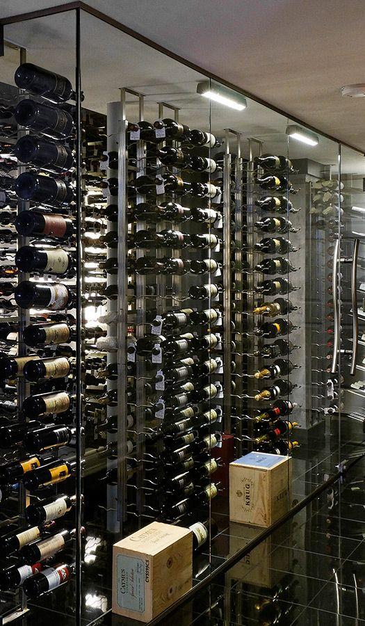 Floor To Ceiling Mounting Frame Create Specialty Wine Displays Metal Wine Rack Glass Wine Cellar Wine Display