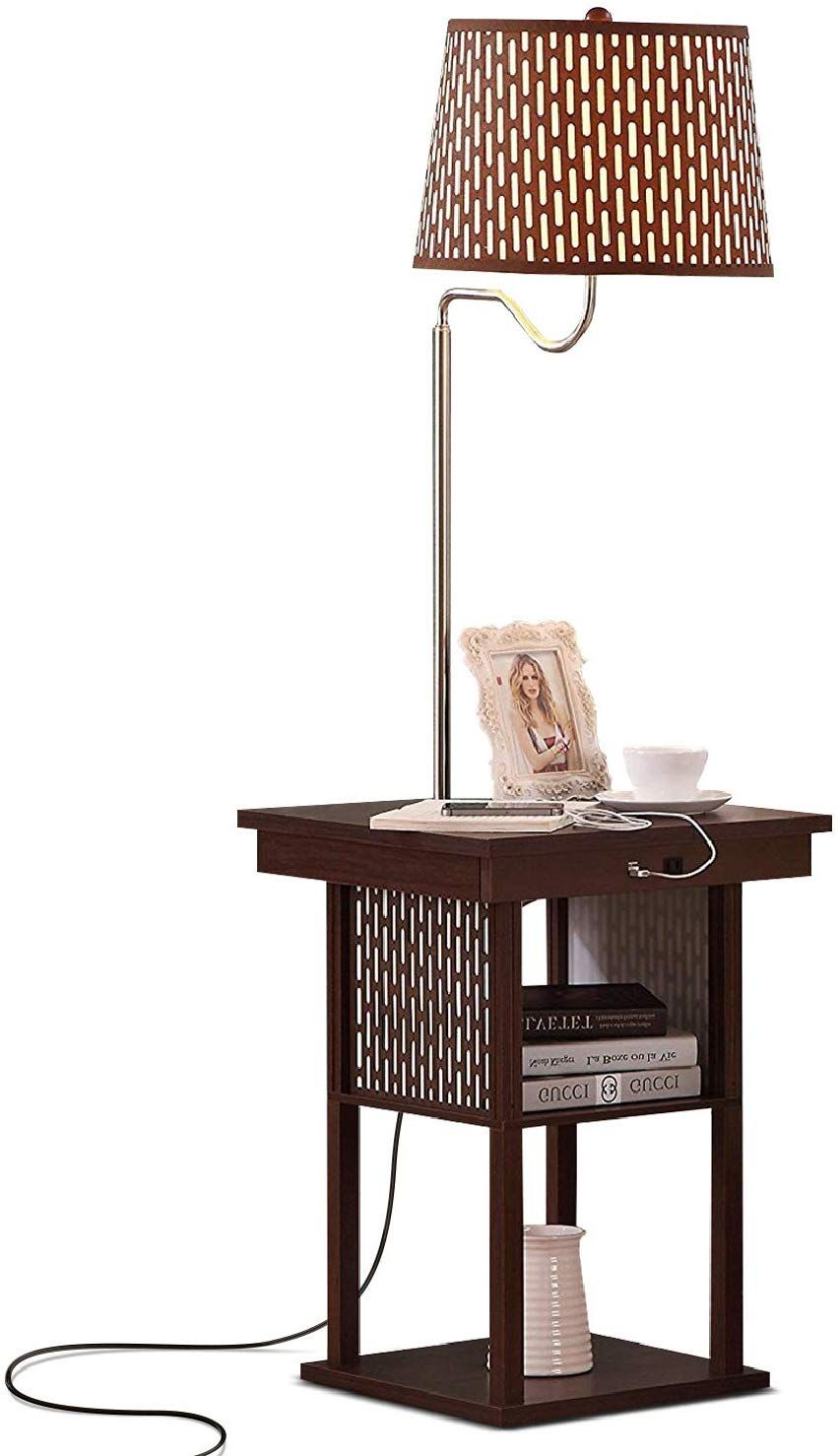 Brightech Madison LED Floor Lamp with USB Charging Ports