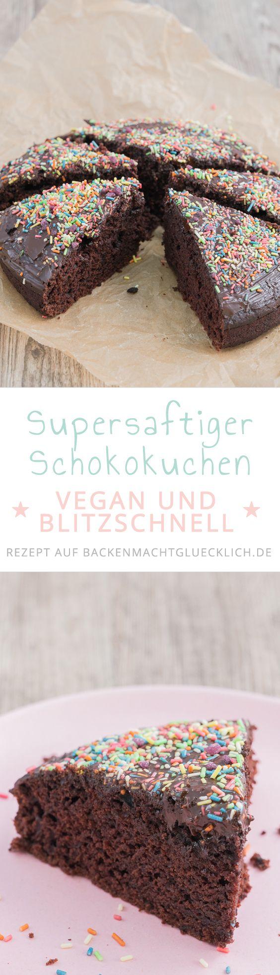 Bester veganer Schokokuchen ohne Ei | Backen macht glücklich #vegetarianrecipes