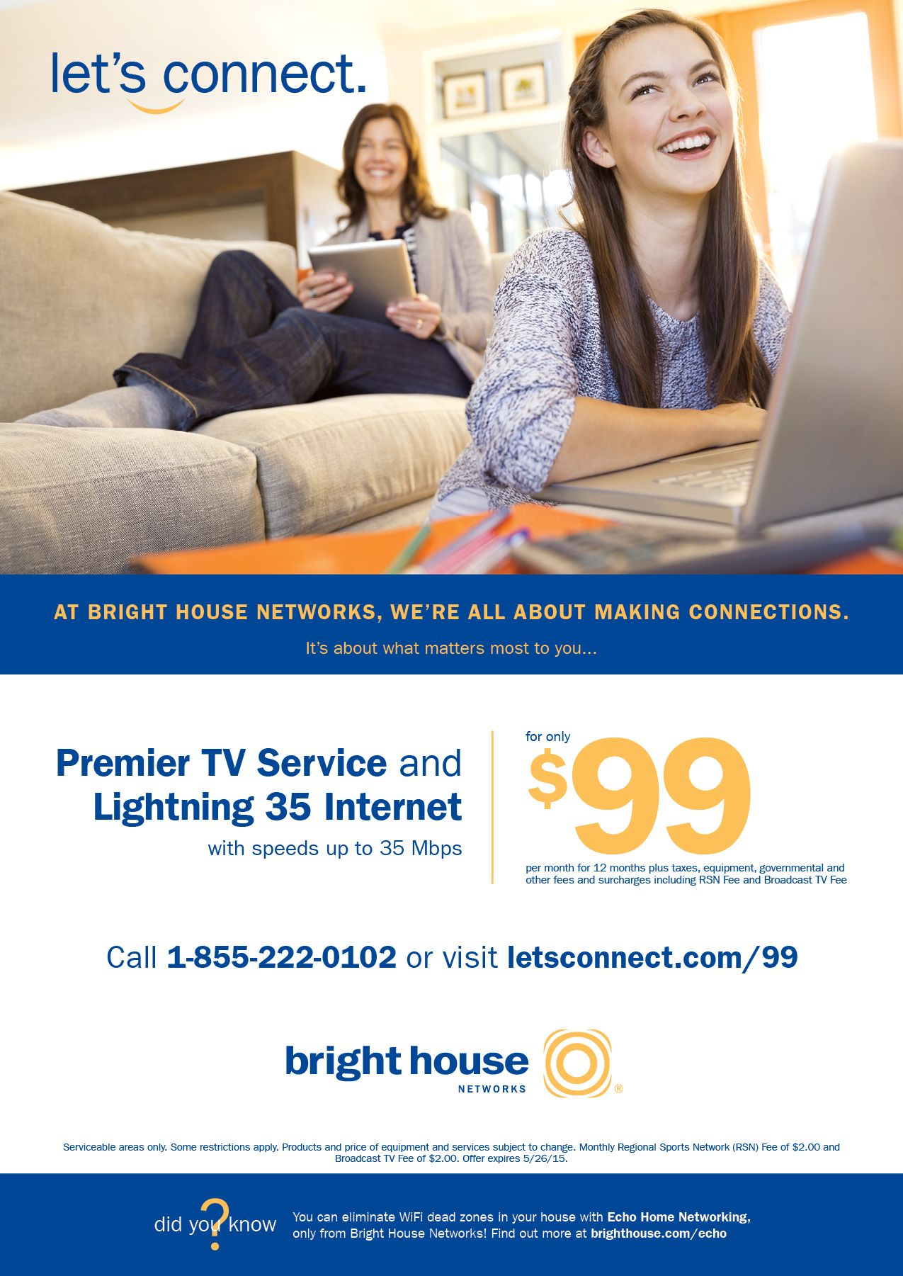 Lauras Design Studio, Designs Ad For Bright House Networks For
