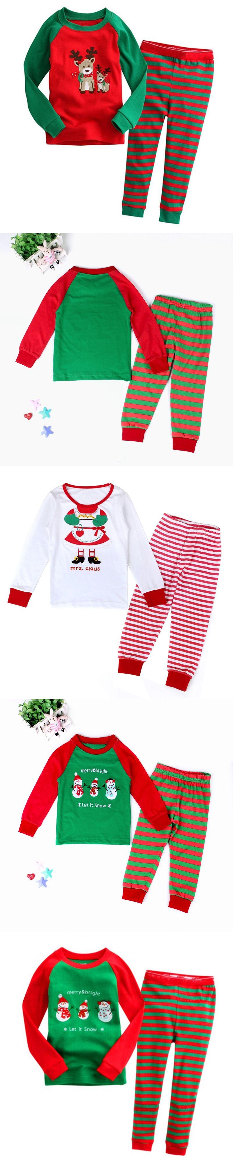 Children Christmas Pajamas Set Cartoon Kids Pijamas For Boys 2-7 Years Girls  Pyjama Set e0f937583