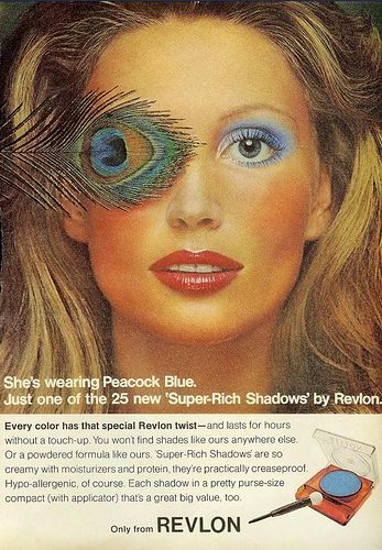 Peacock Blue With Images Vintage Makeup Ads Vintage Cosmetics