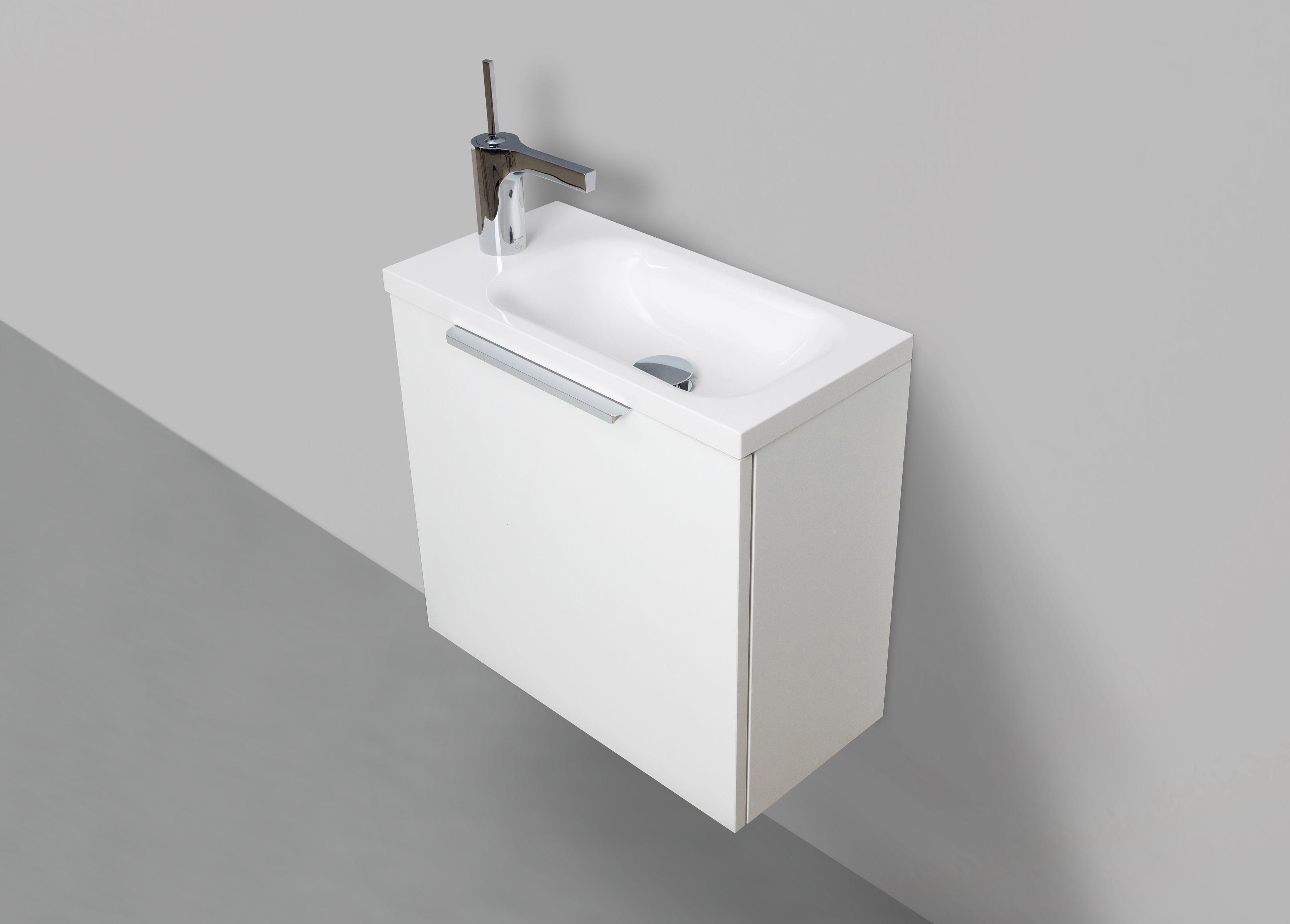 Gastebad Rimini 50 Cm Waschtisch Mit Unterschrank Weiss Hg Waschtisch Unterschrank Und Mineralguss Waschtisch