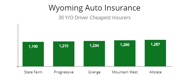 Wyoming Cheapest Autoinsurance For All Driver Types And