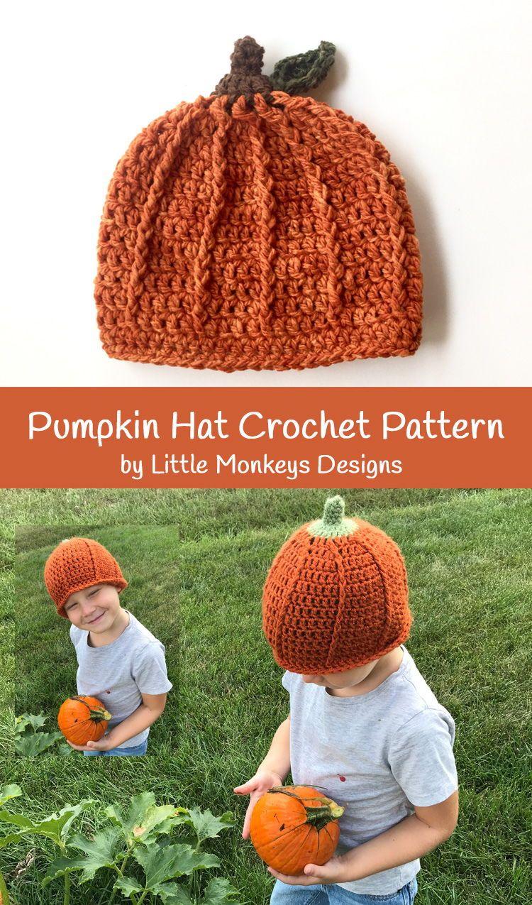 Pumpkin crochet hat pattern - pumpkin hat crochet pattern for kids ...
