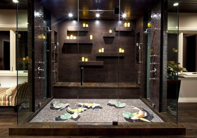 Regendusche Bauen Bad Holz Moderne Duschkabine Badezimmer
