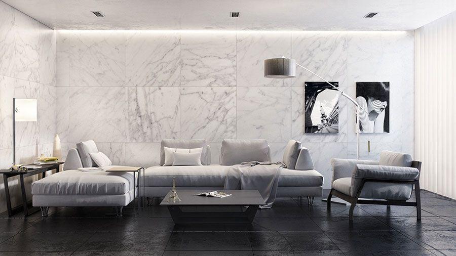 Rivestimento in marmo | Salotti bianchi, Pareti texturizzate ...