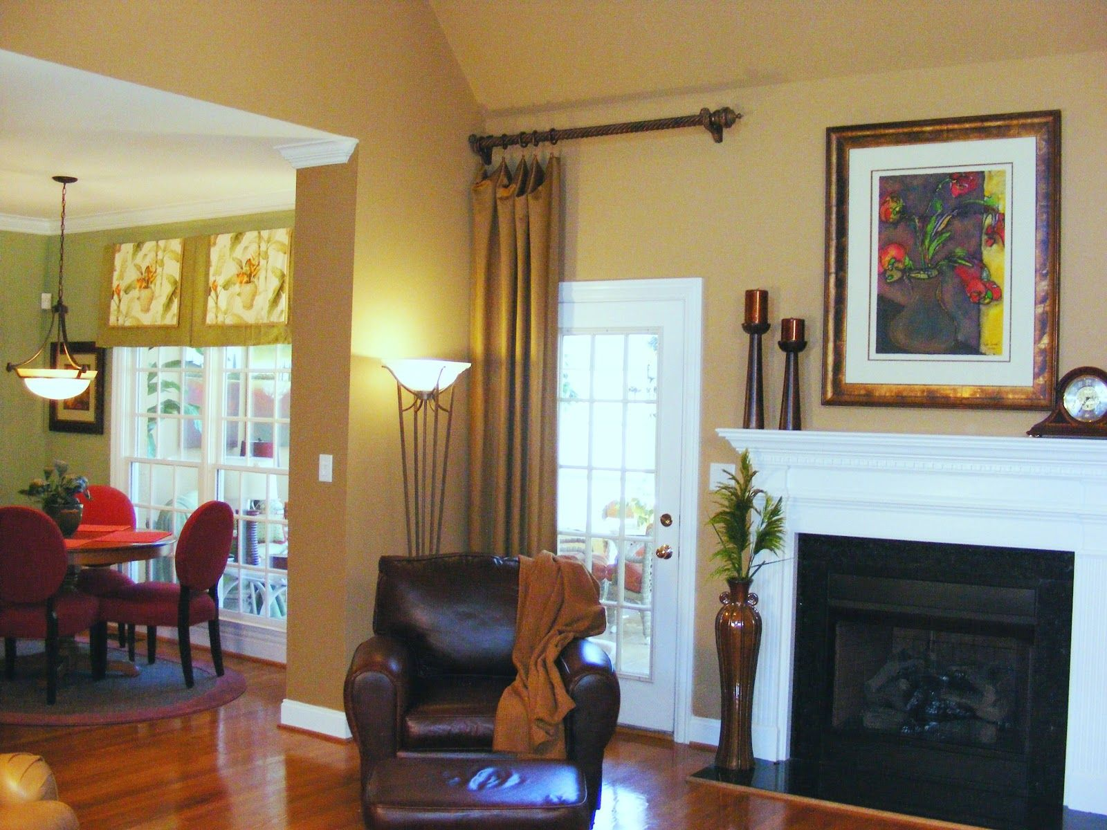 Window Treatments Over French Doors