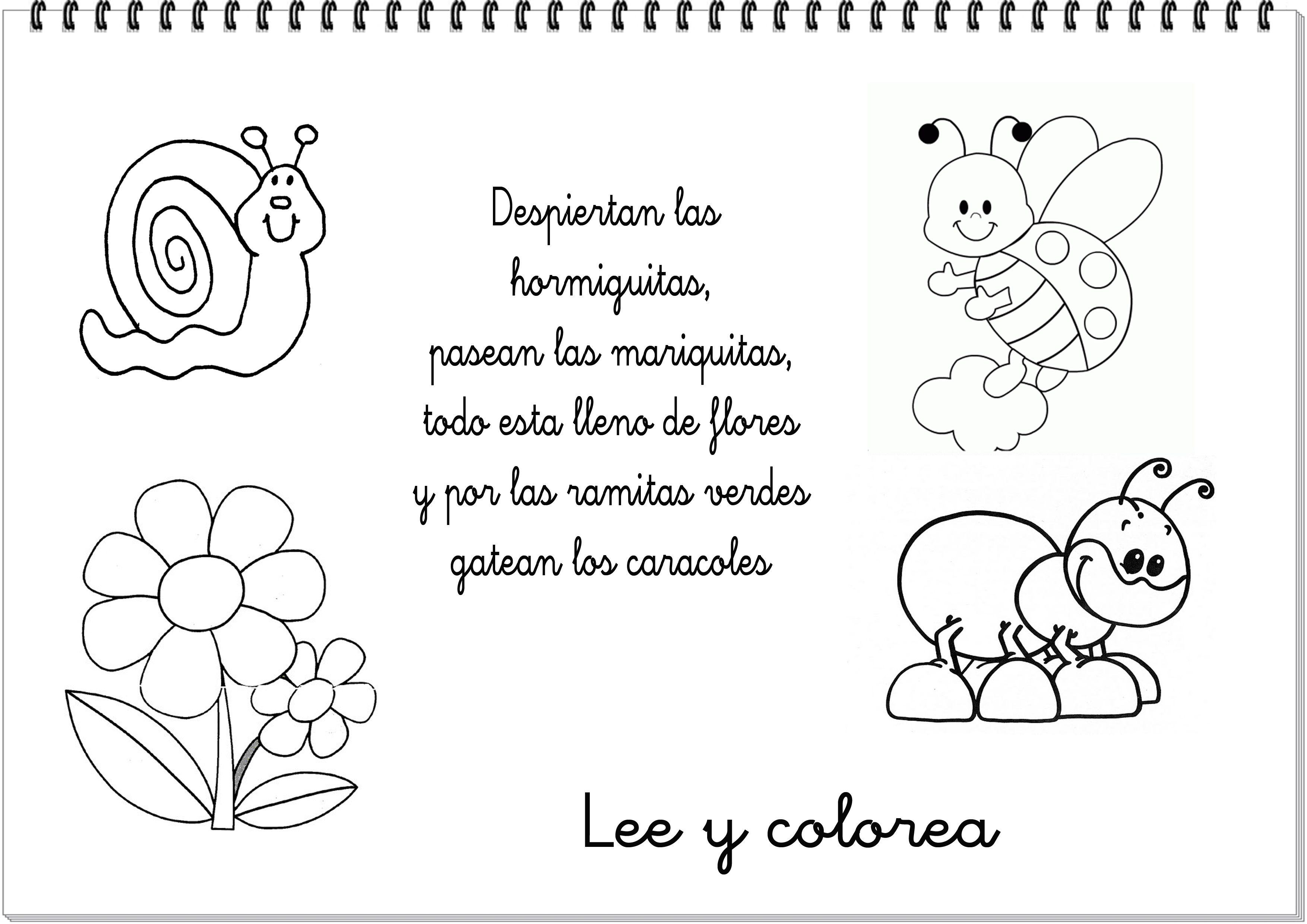 Dibujos Del Dia De La Primavera 4 Primavera Poems Lesson