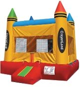 Jingo Jump 23CLBR 13' x 13' Crayonland Inflatable Bounce House w/ Warranty. Jingo Jump, Inc founded in year 2001 in Glendale, CA. We specialize in manufacturing and sales of Inflatable play structures for the amusement and rental industry. From day one our creative designs, quality and safety of our products made our company one of the leaders in inflatable industry. And we thank our customers for their contribution in our outstanding achievements. We work as a team, because even with most…