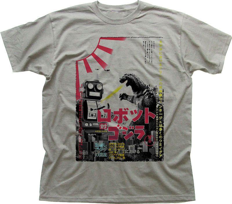 Godzilla vs Toy Robot Vintage Poster Tokyo Retro Japan Zinc Cotton T Shirt 9916 | eBay