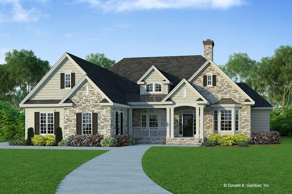 Ranch Style House Plan 4 Beds 2 Baths 2353 Sq Ft Plan 929 750 Ranch Style House Plans Country Style House Plans Craftsman House Plans