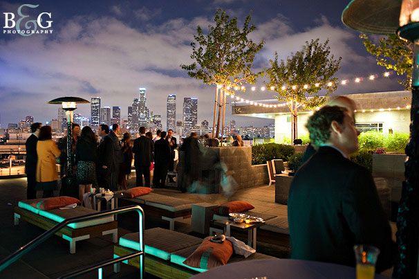 Downtown Los Angeles rooftop wedding reception   Wedding ...