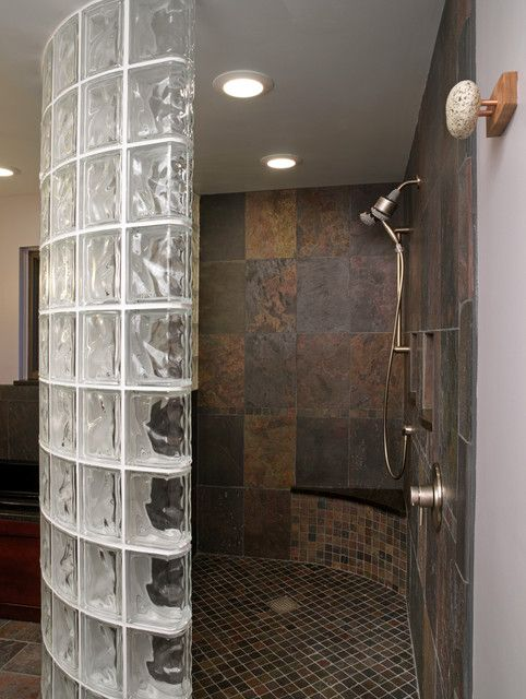 Gl Block Shower Traditional Showers
