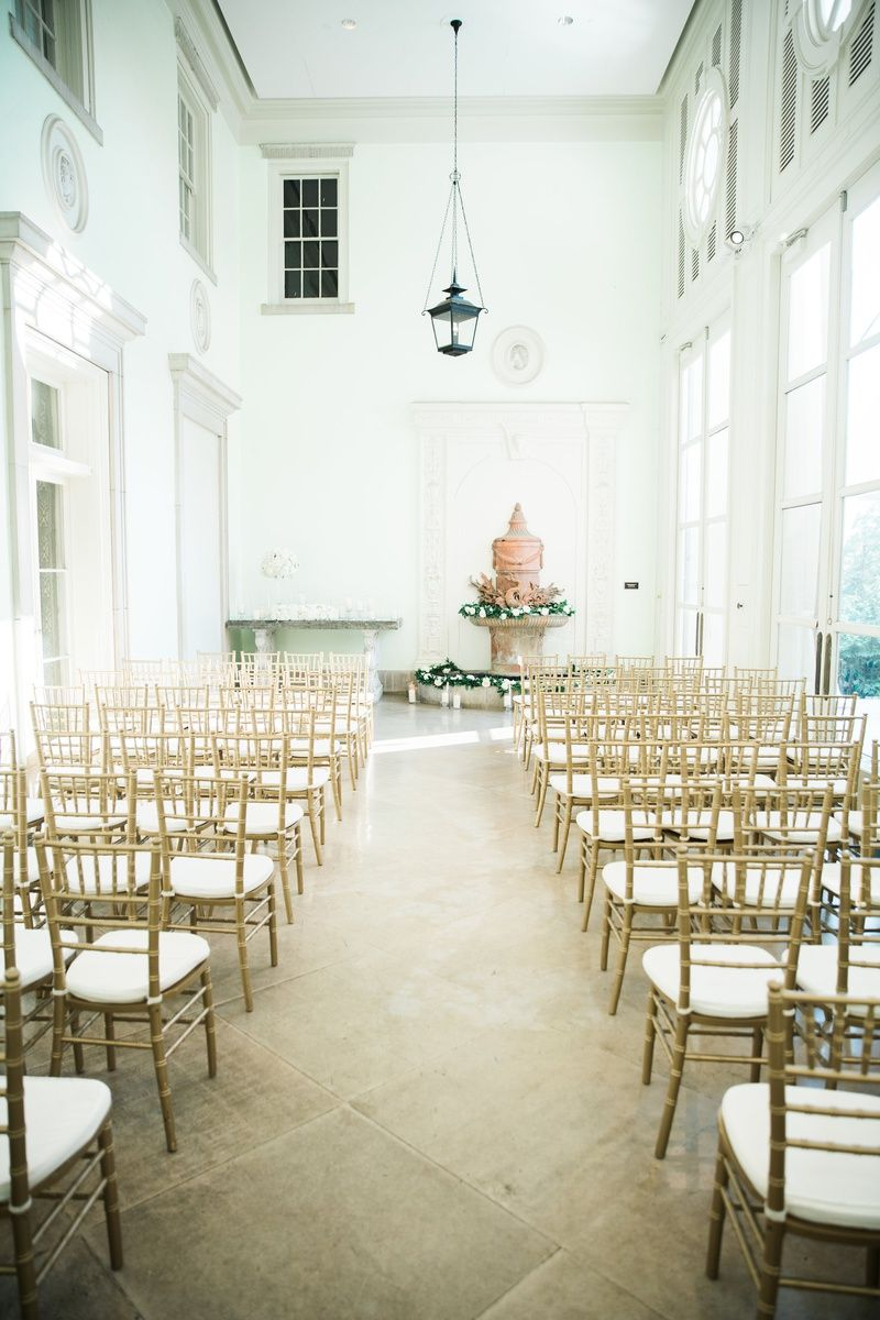 Gold Chiavari Chairs Indoor Wedding Ceremony With Fountain Indoor Ceremony Chiavari Chairs Wedding Ceremony Gold Chiavari Chairs