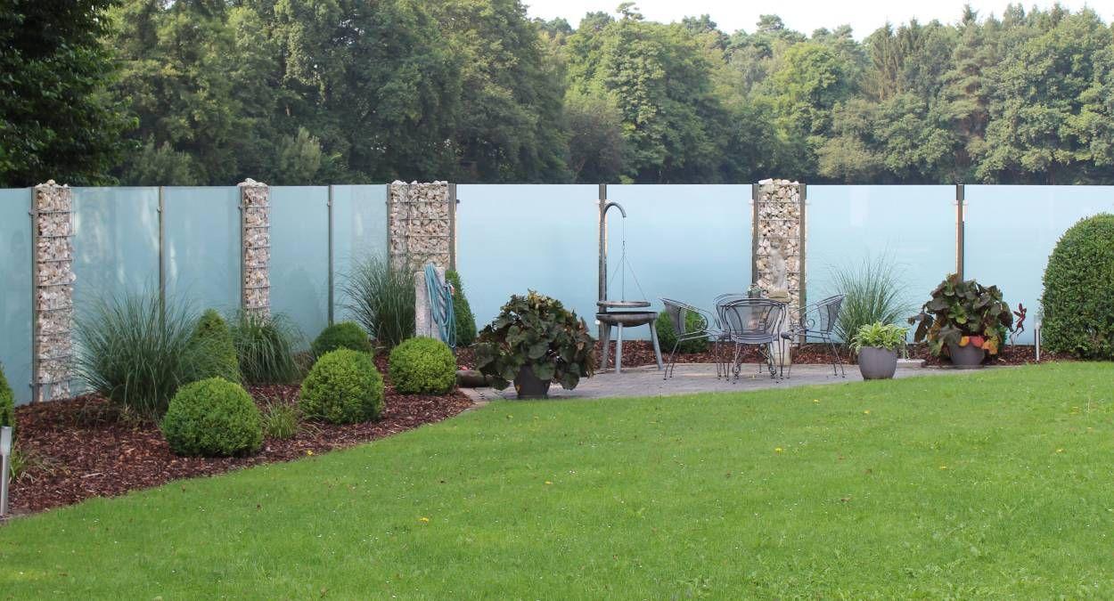 Glaszaun Fur Garten Und Terrasse Glasprofi24 Mit Bildern