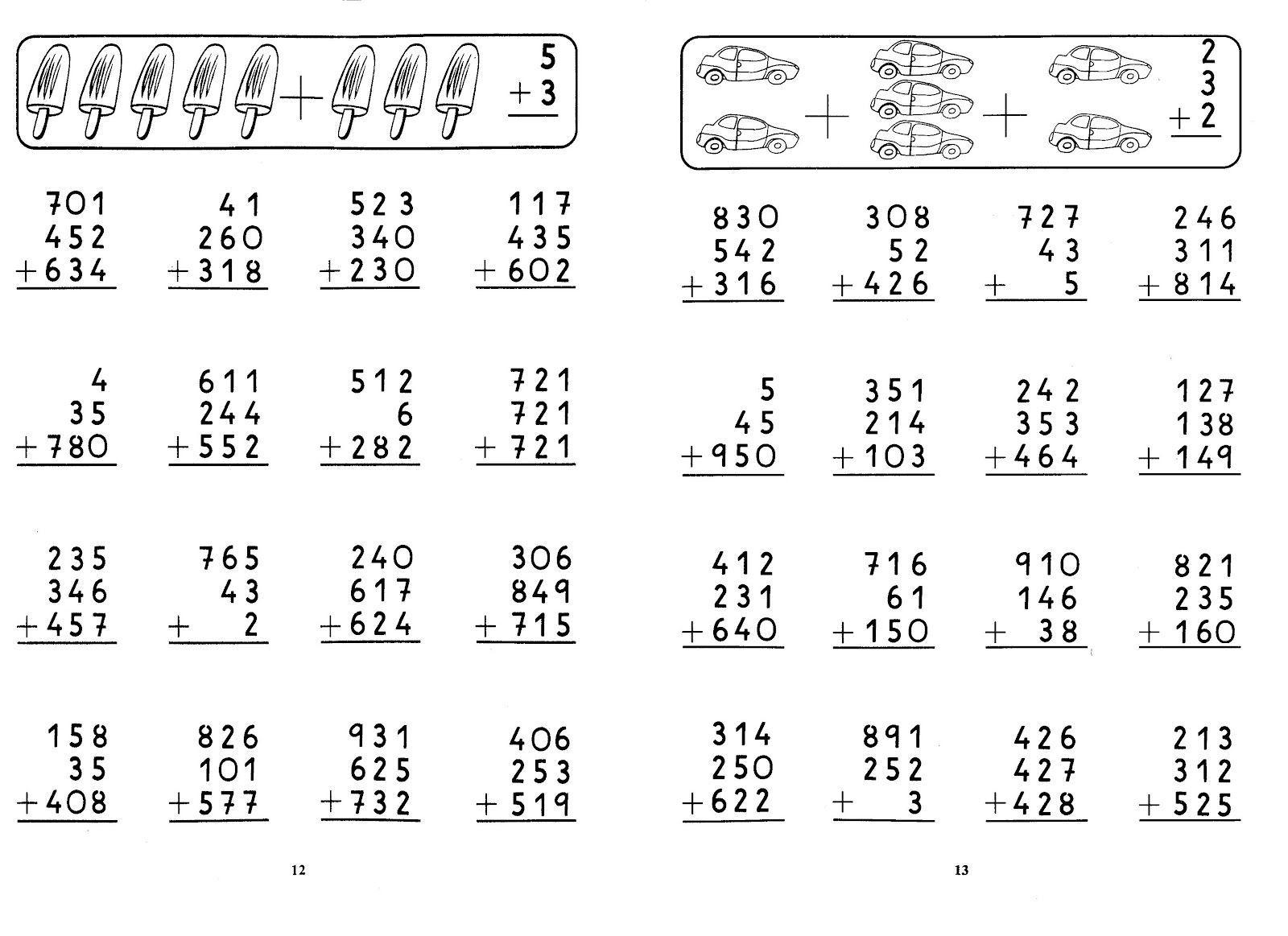 Sumas Y Restas Tercer Grado Sumas Llevando Buscar Con Algebra Worksheets Math Work 1st Grade Math Worksheets