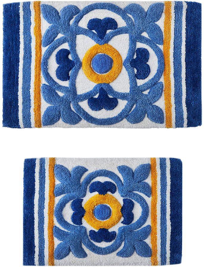 Sunham Tile Medallion 2 Pc Tufted Bath Rug Set Bedding Sponsored