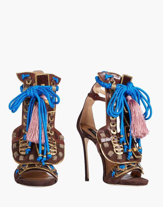 Sandales En Daim Samouraïs Automne / Hiver Dsquared2 RHHmsAj