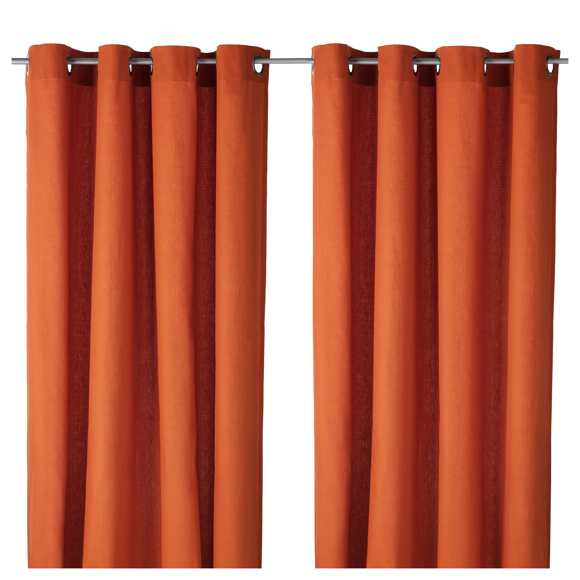 Orange curtains living room - Mariam Curtains 1 Pair Ikea 20 Pair Orange Buy 2 Pairs 57