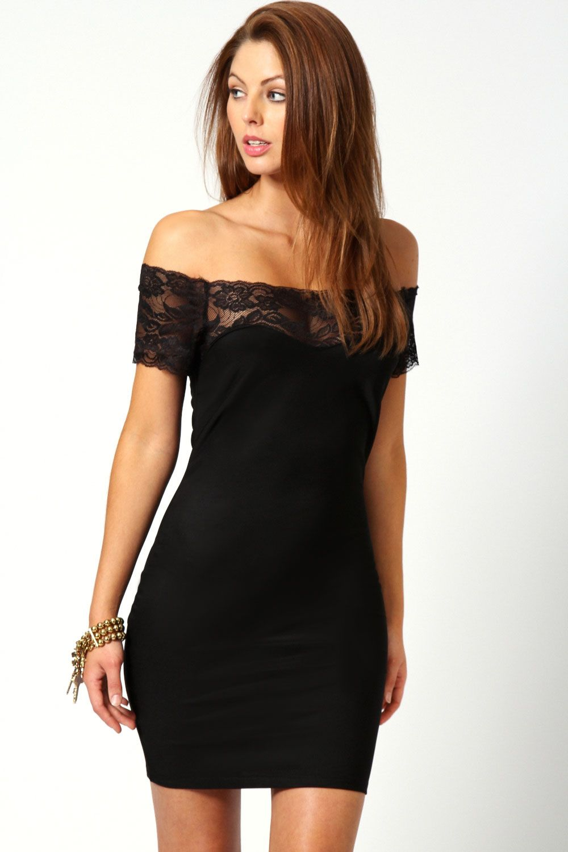Boohoo black evening dresses