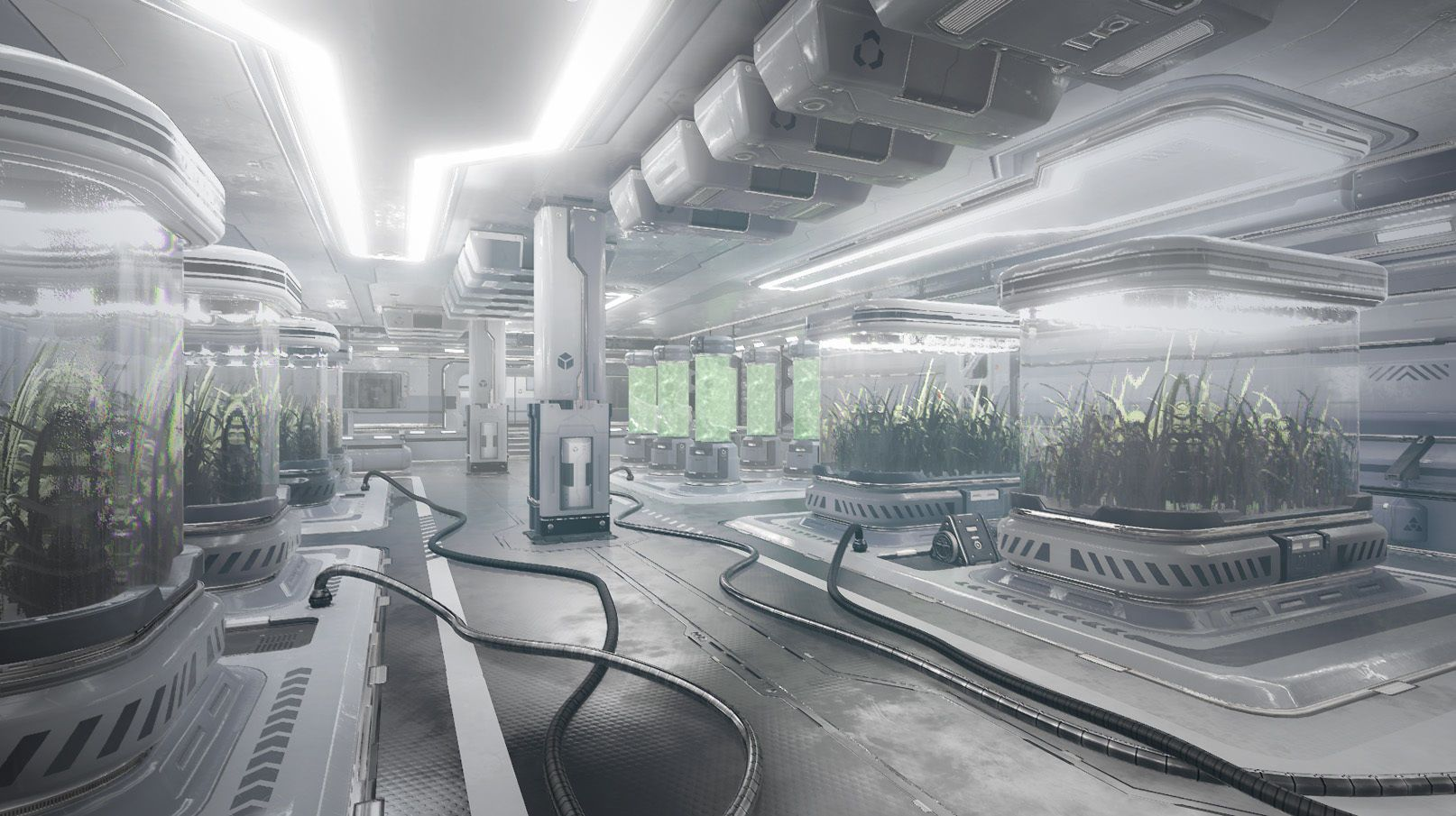 Sci Fi Facility 3d Model With Images Sci Fi Environment