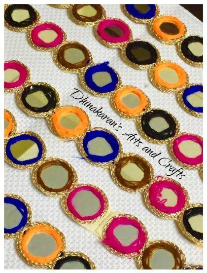 Buy Alluring Multicolor MirrorWork Border