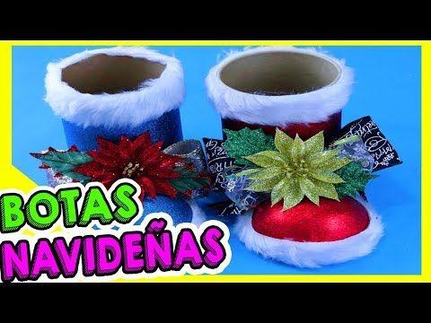 ☆ BOTA navideña DE FOAMY O GOMA EVA con BOTELLA PLÁSTICA - manualidades para navidad