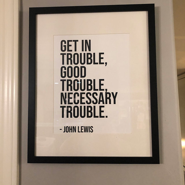 John Lewis Quote Poster Get In Trouble Good Trouble Etsy Quote Posters John Lewis Quotes Funny Fathers Day Card