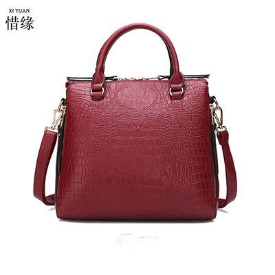 XIYUAN BRAND fashion women red shoulder bags black pu leather bags ... aa419493318aa