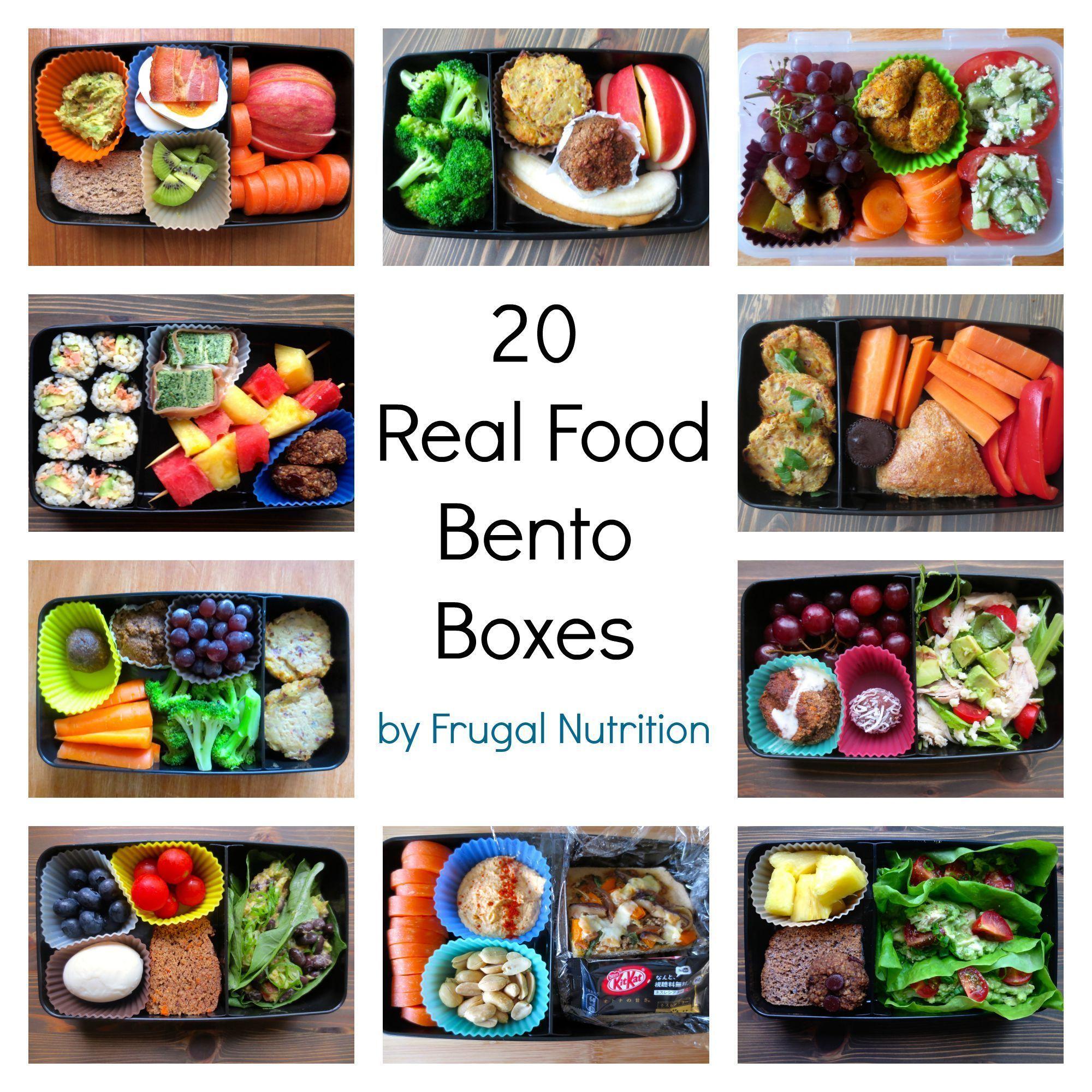 Real Food Bento Box Round Up: 20 Lunch Box Ideas #bentoboxlunch