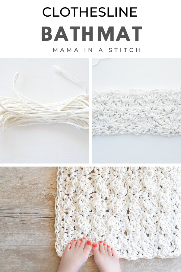 How To Crochet A Bath Rug with Rope