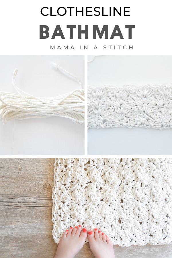 How I Made A Crochet Bath Mat – Free Pattern