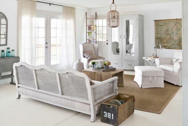 Wohnzimmer im Landhausstil gestalten \u2013 55 gemütliche Ideen - wohnzimmer neu gestalten