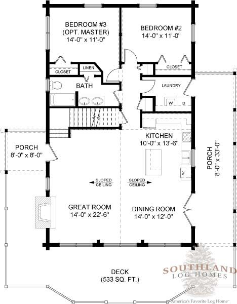 Small Log Cabin Floor Plans | Culpeper - Log Home / Cabin ...