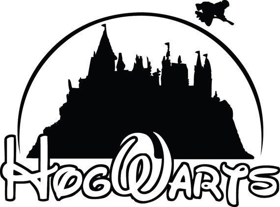 Hogwarts Harry Potter Disney School Decal Sticker Harry Potter Silhouette Hogwarts Silhouette Harry Potter Disney
