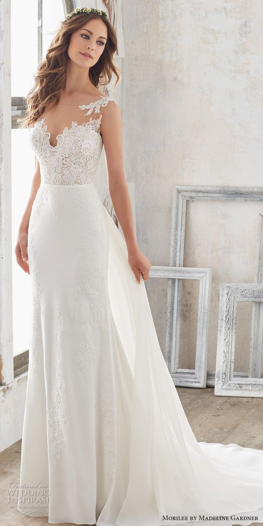 morilee spring 2017 bridal sleeveless sheer bateau sweetheart ...