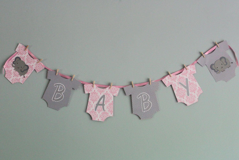Es una chica Empavesado Bandera Baby Shower Bienvenido a Casa Nuevo Bebé Niña Decoración