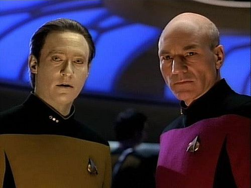 Brent Spiner and Patrick Stewart: the two best actors on Next Gen. I credit them for making the show watchable. Sadly, many of the guest actors, and a few of the regulars, wouldn't know a subtle performance if it hit them with a phaser beam.