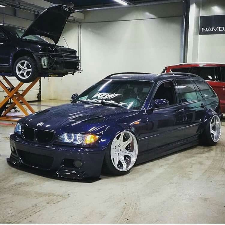 bmw e46 3 series touring blue slammed bmw ultimate driving machine pinterest bmw e46. Black Bedroom Furniture Sets. Home Design Ideas