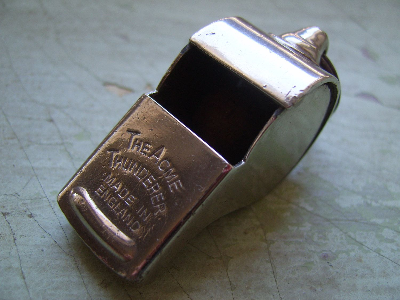 A Vintage 'Acme Thunderer' Whistle Circa 1930's-1940's