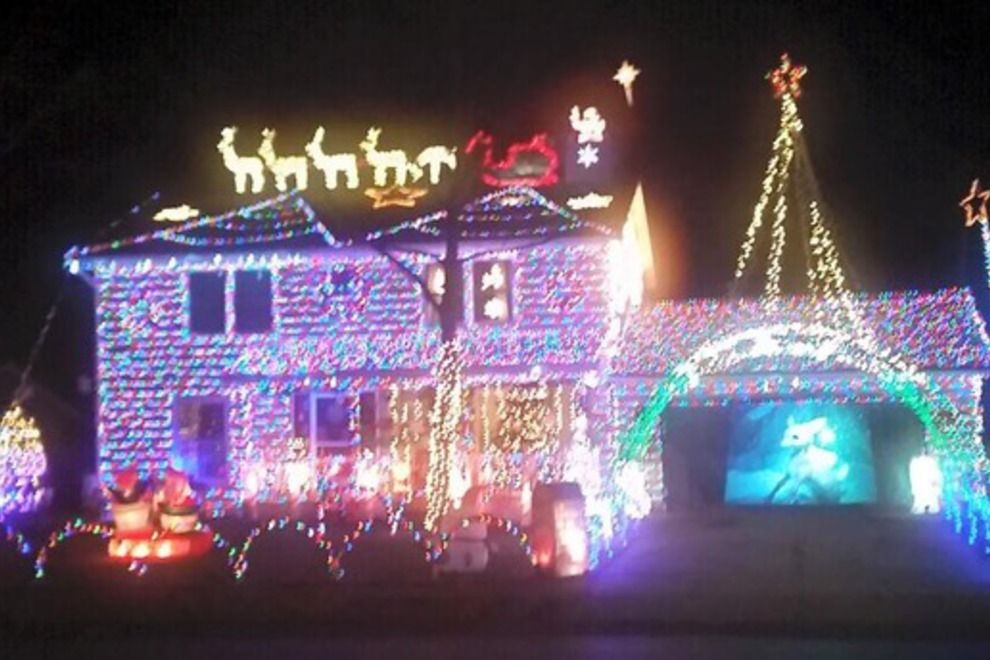 My Home Is Part Of A Contest For The 10 Best Holiday Light Displays Please Click And Vote For Me Holiday Lights Display Christmas Lights Outside Light Display