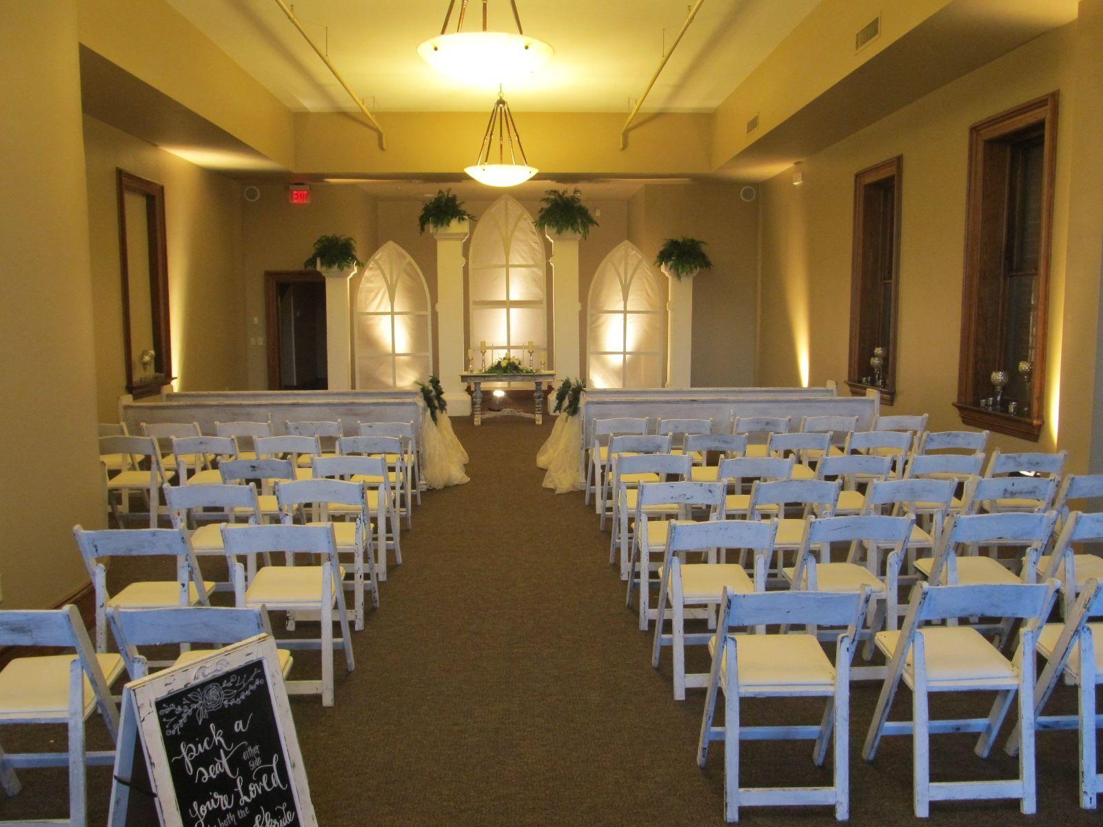 Benson Room Ceremony Set Up Table Decorations Upstate Wedding Room